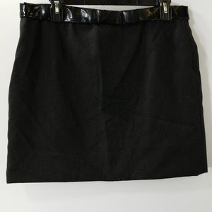Chloe Black Silk/Wool Straight Skirt Size T40